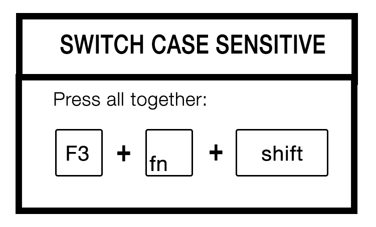 switch case sensitive